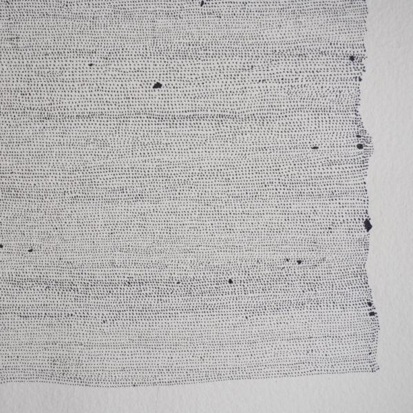 Dessin abstrait à l'encre sur papier signé Marie-Pierre Biau
