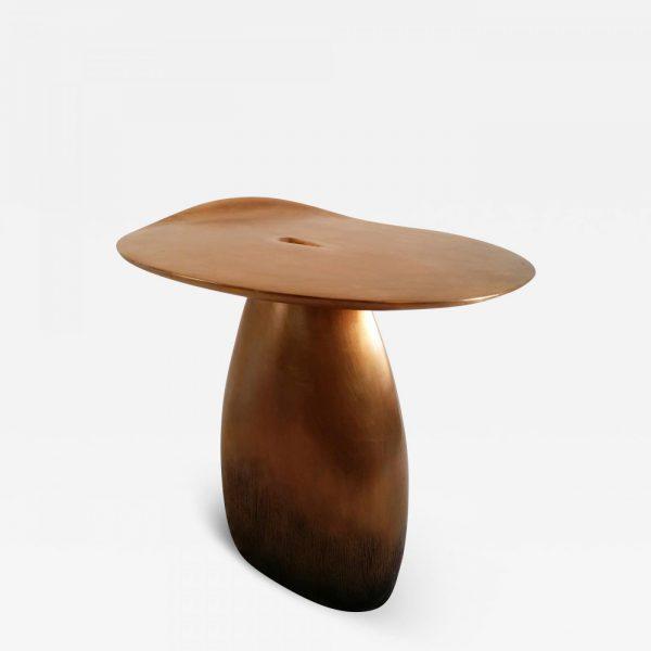 Table d'appoint haut de gamme en bronze signée Hoon Moreau, artiste designer de meubles uniques