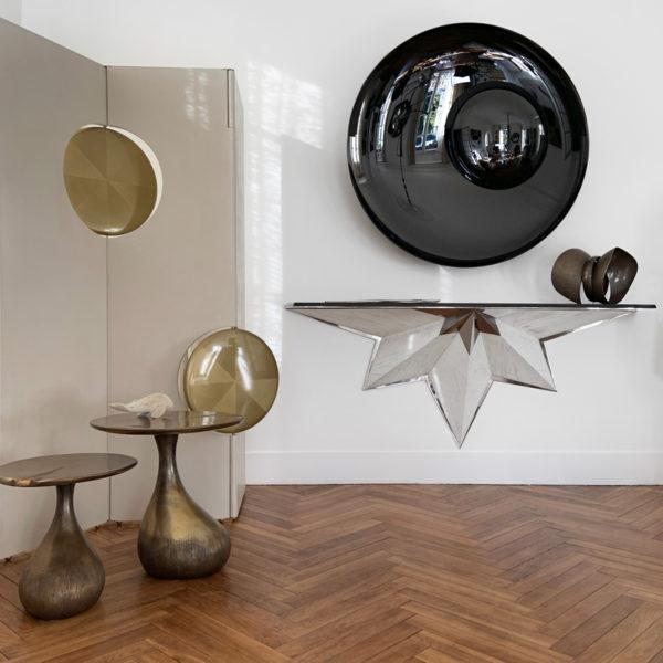 OAK Galerie d'art et de design à Toulouse et BordeauxDécoration murale contemporaine signée Christophe Gaignon, artiste créateur de miroirs en verre oxydé