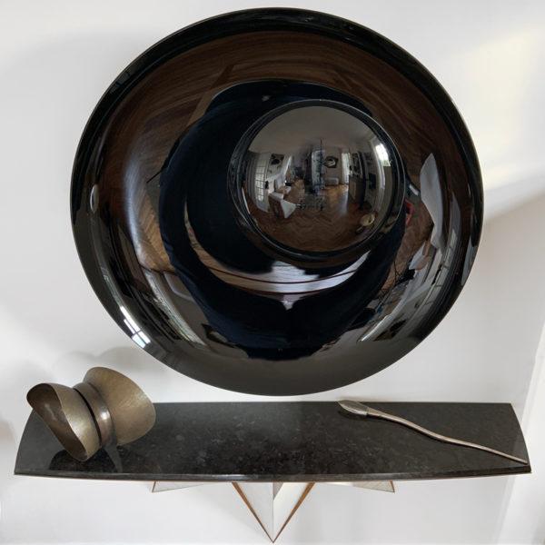 Lance décorative en argent massif signée Roland Daraspe et son cristal taillé par Jean Pierre Bacquère