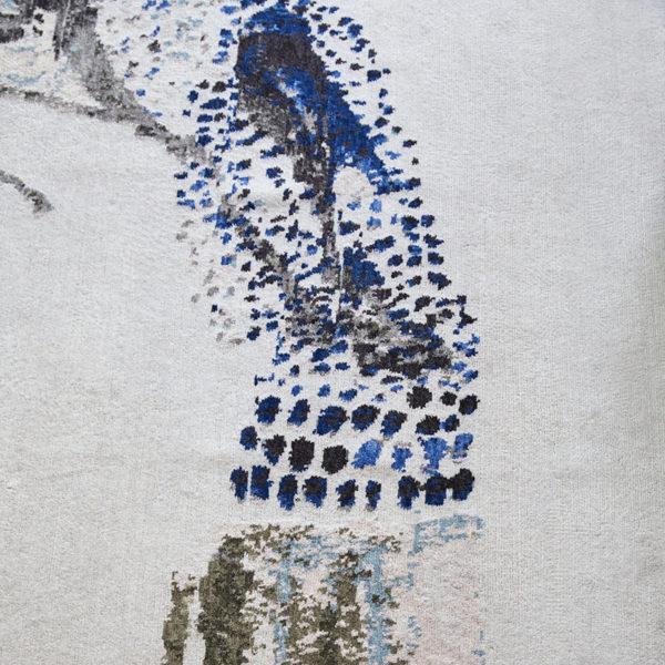 Tapis d'exception 100% laine noué main au Népal, signé Daniela Busarello