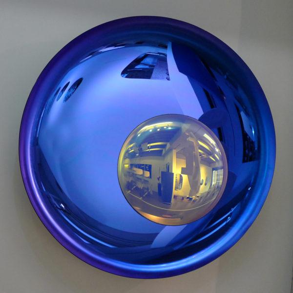 Décoration murale contemporaine signée Christophe Gaignon, artiste créateur de miroirs en verre oxydé