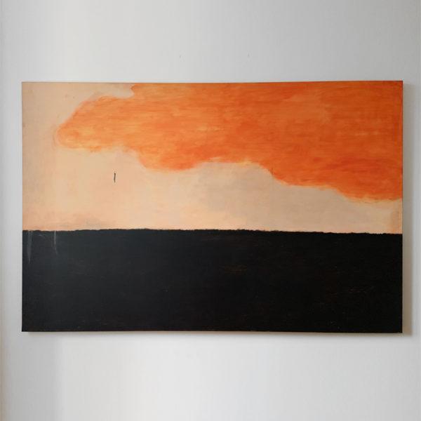 Tableau de nuages en peinture acrylique signé Beatrice Pontacq, artiste peintre à Bordeaux