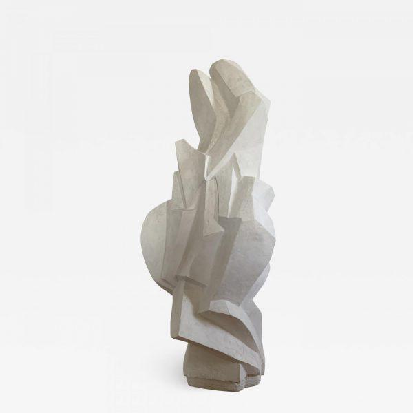 Sculpture moderniste en plâtre des années 60 signée René Bascands