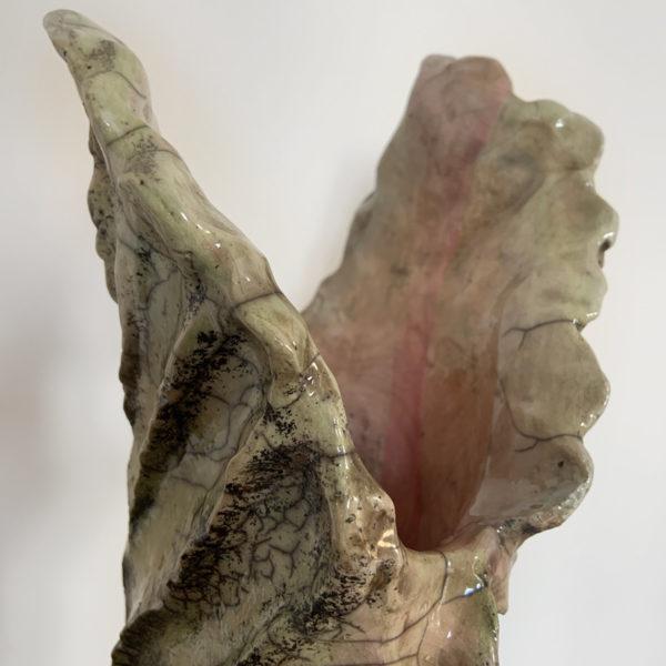 Vase en céramique en Raku émaillé signé Bella Hunt & DDC