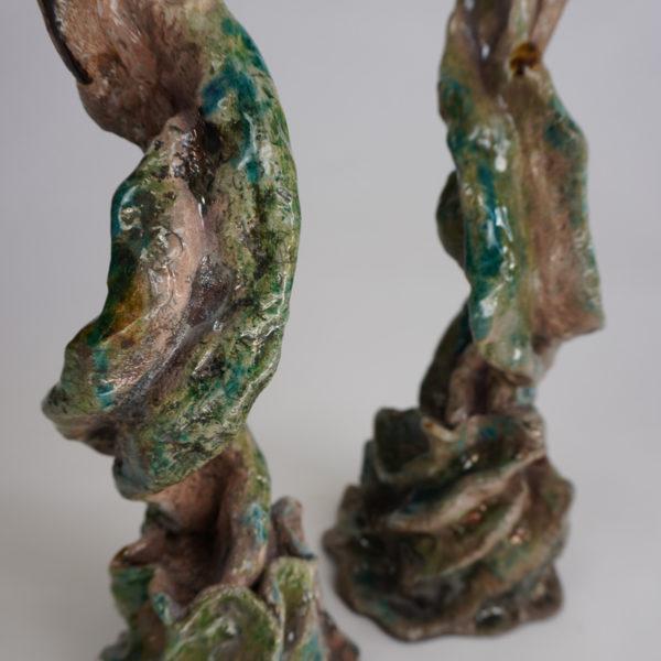 Bougeoir poétique en céramique Raku émaillée, signé Bella Hunt & DDC