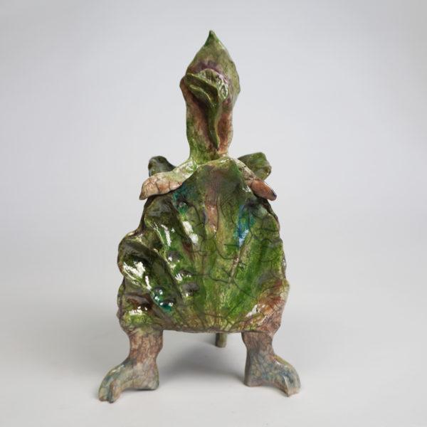 Vase poétique en céramique Raku émaillée, signé Bella Hunt & DDC